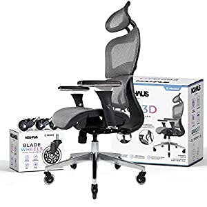 Conforms to your Life: With it's 3D Adjustable Armrest and Lumbar System, ElastoMesh, 135 Degree Back Tilt, Smooth HydraLift, Dual Castors (and a set of hardwood floor Blade Castors) – it's easy to think the Ergo3D is from the future, but instead it'...