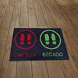 SML Alfombra -Felpudo desinfectante para Entrada hogar y Negocio. Antideslizante y Lavable,Limpia Zapatos.Medida 45x68cm