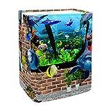 Cesta de lavandería con asas para acuario de Fish Out From Aquarium