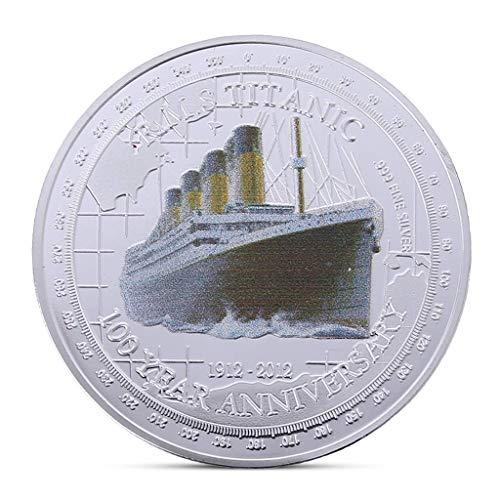 QUEAMBLER Titanic Moneda Coleccionistas Especiales Monedas Hermosas Que recogen el Regalo de curiosidades Aniversario 100 años