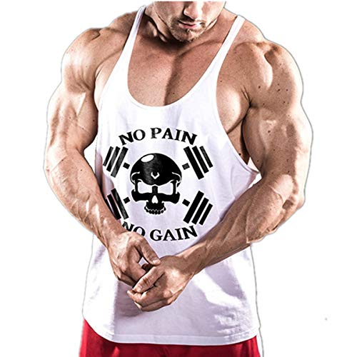 Cabeen NO Pain NO Gain Culturisme Débardeurs Workout Fitness Gym Tank Top