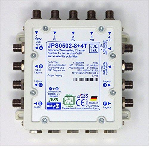 Jultec Multischalter JPS0502-8+4T Einkabelumsetzer | 1 Satellit | 16 + 4 Teilnehme