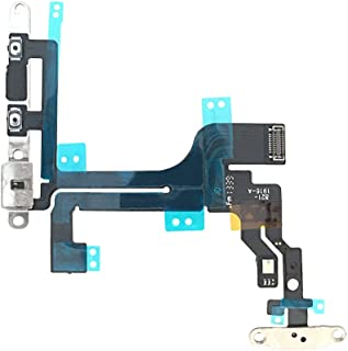 Johncase New OEM Original Switch Power Button On/Off and Volume Control and Mute Button and Flash Light and Mic Flex Cable W/Bracket Replacement Part Compatible for iPhone 5C (All Carriers)