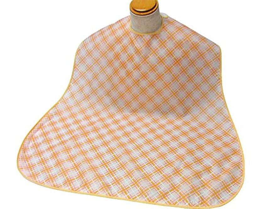 窓確立します競争エコノミー食事用エプロン 水玉オレンジ 3002 (萬楽) (食事用エプロン)