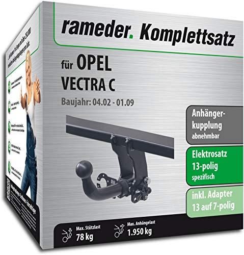 Rameder Komplettsatz, Anhängerkupplung abnehmbar + 13pol Elektrik für OPEL Vectra C (117025-04865-1)