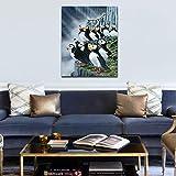 DIY Pintar por númerosCasa para Colorear pingüino 40x50cm Sin Marco