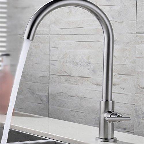 WasserhahnTap 304Edelstahl Wasserhahn Single Kalten Küchenarmatur Waschtisch Edelstahl Waschbecken Wasserhahn
