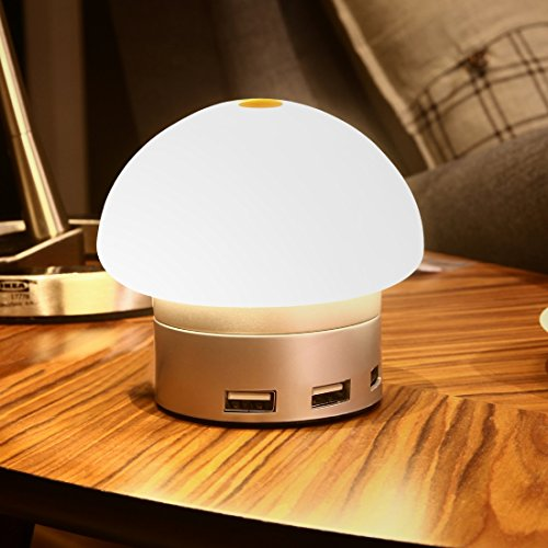 caricabatteria, Seenda 2 in 1 1W Atmosfera LED regolabile a LED Light + 30W escursioni caricatore con 6 porte intelligenti di identificazione USB e AC cavo per Apple, Samsung, HTC, Huawei, Xiaomi, Meizu, spina USA