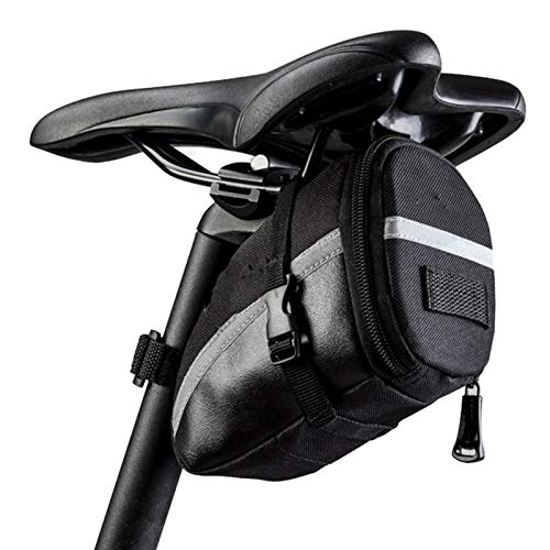 yanqiu Bolsa para sillín de bicicleta, 16 en 1 multifunción, herramienta de reparación de neumáticos de cadena de bicicleta con bolsa de sillín de 1,2 l (Negro-1)