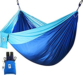 Utopia Home Supreme Nylon Hammock- Supports Up to Two People or 400 LBS - Porch, Backyard, Indoor, Camping - Durable, Ultralight Material - Includes Hanging Straps (Blue) (B01MQWVDCL) | Amazon price tracker / tracking, Amazon price history charts, Amazon price watches, Amazon price drop alerts
