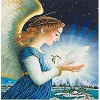 1500ピース木製ジグソーパズルクリスマスパズルゲーム天使が白い鳩を抱いてクリスマスプレゼント