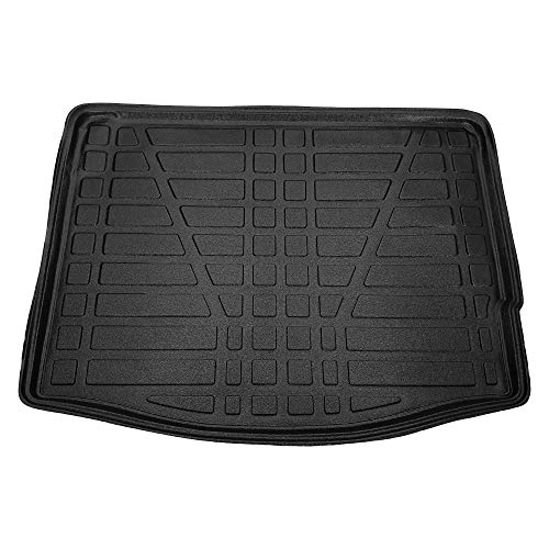RE&AR Tuning Trunk Mats for Ford Focus III Hatchback 2011-2014 Cargo Liner Black