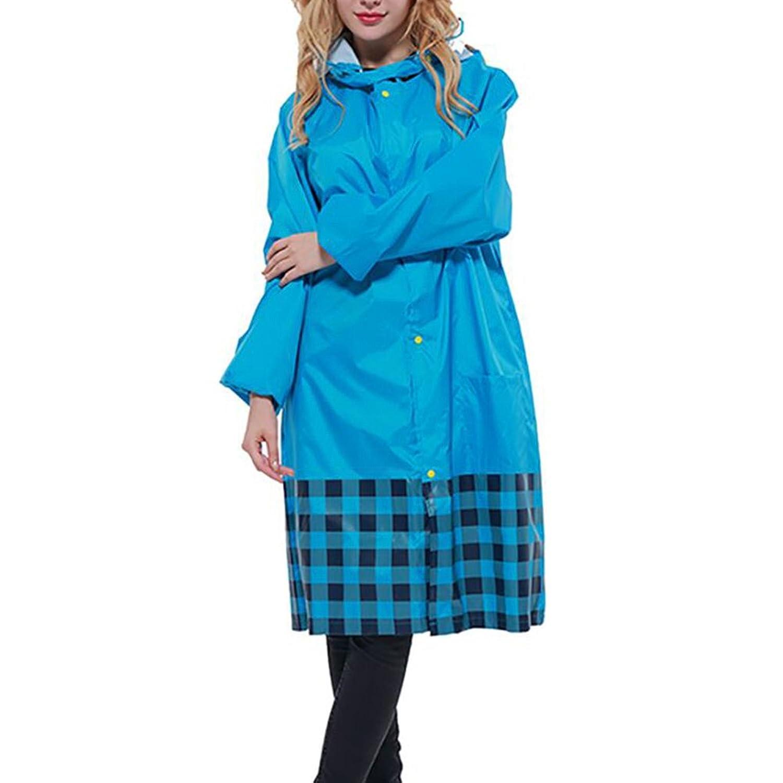 PENGFEI レインコートポンチョ レインポンチョ ポリエステル 薄くて軽い シャム 大きな帽子 通気性のある ファッション 徒歩で 、青、 XXXLコード (色 : 青, サイズ さいず : XXXL)