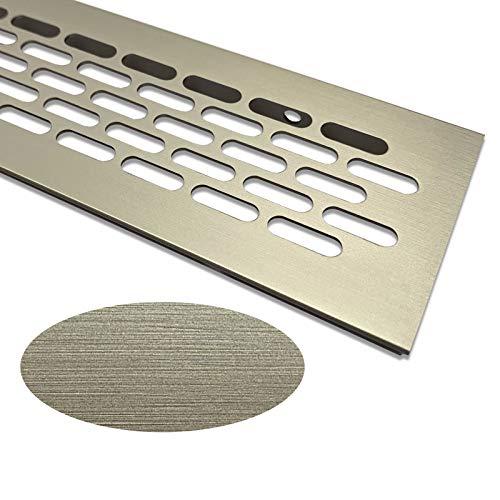 Kratka wentylacyjna aluminiowa   60 mm x 245 mm   Kolor: wygląd stali szlachetnej   kratka wentylacyjna aluminium   blacha komorowa   kratka wentylacyjna   kratka grzewcza   kratka wentylacyjna / wentylacja