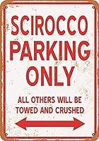 2個 20 * 30CMメタルサイン-シロッコ駐車場のみ メタルプレート レトロ アメリカン ブリキ 看板