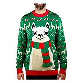 Llama Christmas Sweater FA La La Llama Ugly Sweater for Men Women 1 No drama for this christmas llama! a red and green tacky holiday themed long sleeve pullover sweater, featuring an adorable giant llama sporting a 3d fuzzy striped scarf that just screams festive fun Fa la la la llama - funny ugly xmas sweater for men and women - the unisex llama christmas sweater is perfect for llama lovers If you need to win an ugly christmas sweater contest, this cute, soft llama ugly christmas sweater is sure to take home the gold. Guaranteed to be the ugliest holiday theme sweater at the xmas sweater party, or your office ugly sweater party