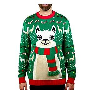 Llama Christmas Sweater FA La La Llama Ugly Sweater for Men Women