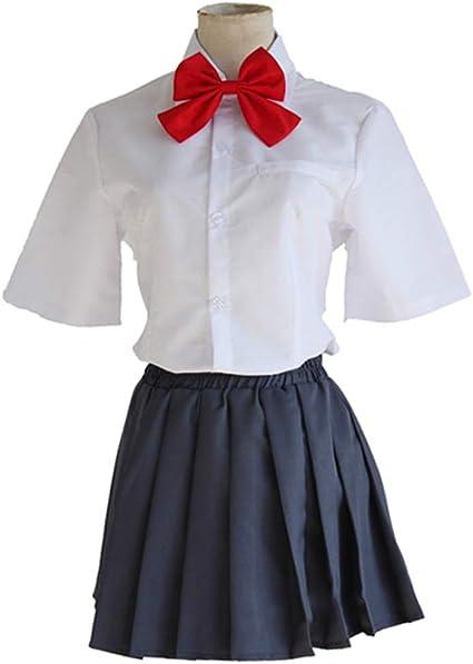 YKJ Camisa Blanca de Anime y Falda Negra Traje de Cosplay ...