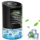 SHSTFD Portable Air Conditioner Fan, Personal Quiet 3 Speeds Desk Fan with 7 Colors Night Light for Home Office