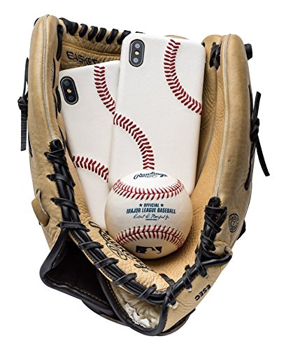 mcmadley Leather Baseball Phone Case for iPhone X/XS Made with Professional Baseball Leather and Raised Stitch, Ultra Thin, Protective Grip, Light Weight, Perfect Apple iPhone Fit and Finish
