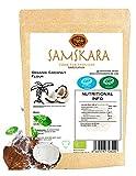 Harina de Coco Crudo Ecologico SAMSKARA SUPERFOODS BIO Organic RAW Coconut Flour - Gluten free baking and Healthy Flour Alternative (1kg)
