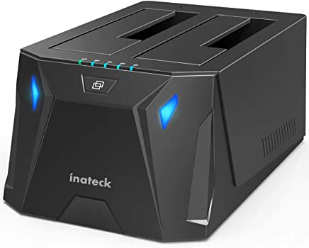 Inateck SATA Hard Drive Docking Station, USB 3.0 SSD Docking Station,Dual Bay,FD2005