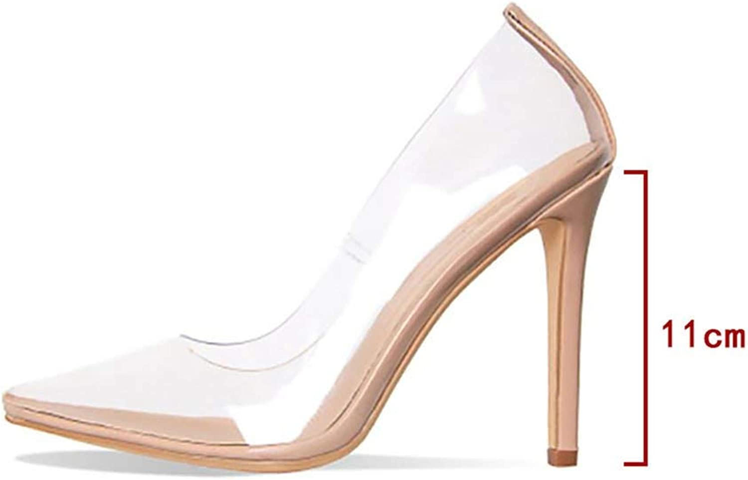 shoes Clear PVC Sandals Heel Stilettos High Heels Point Toes Womens Party shoes Nightclub Pumps