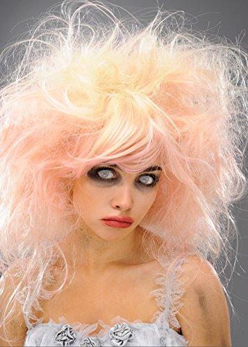 Womens Blonde et rose Zombie Beauty Queen perruque