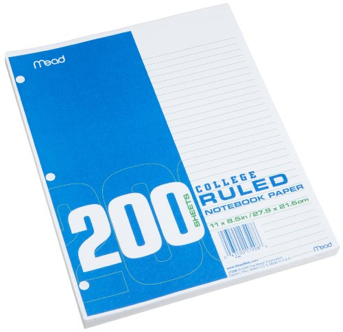 Price comparison product image Mead Economical Filler Paper,  College Ruled,  11 x 8-1 / 2