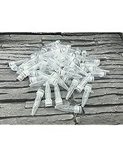 Tarros de reacción con tapón de rosca, plástico, tubo de centrífuga, 1,5 ml, cápsulas vacías, cápsulas de tela, laboratorio (paquete de 500)