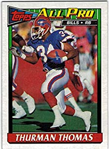 1991 Topps AFC Champion Buffalo Bills Team Set with Bruce Smith & 2 Thurman Thomas - 25 NFL Cards