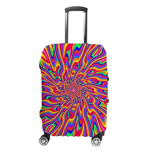 Funda de equipaje gruesa, lavable, con fondo colorido, de fibra de poliéster, elástica, plegable, ligera, protector de maleta de viaje