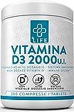 PIULIFE Vitamina D3 ● 200 Compresse da 2000 IU Made in Italy ● Supporta le Funzioni Immunitaria, Muscolare e Ossea ● NO OGM