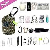 TBDLG 23-in-1 First Aid Kit Outdoor, Kompakt Multi Erste Hilfe Set Wandern Tactical Tragbar...