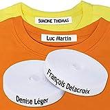 100 Étiquettes stickers vêtements thermocollantes - Les uniques étiquettes autocollantes personnalisées avec CERTIFICAT ÉCOLOGIQUE. Étiquettes tissu à fixer au fer à repasser, conçu pour les enfants.