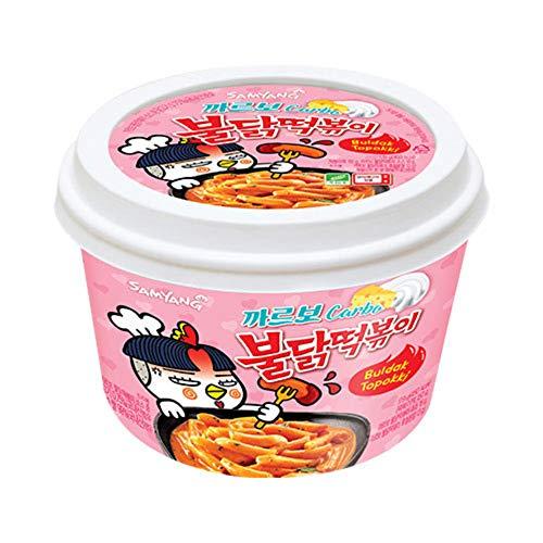 Samyang Carbo Buldak (Roast Chicken) Hot Spicy Rice Cake Tteokbokki (1)