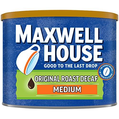 Maxwell House The Original Roast Decaf Medium Roast Ground Coffee (22 oz Canister)