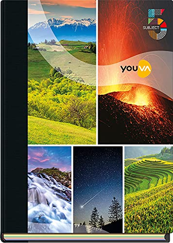 Navneet Youva | Case Bound | 5 Subject Book | 18.5x24.7 cm | Single Line | 400 Pages | Pack of 1, multicolor