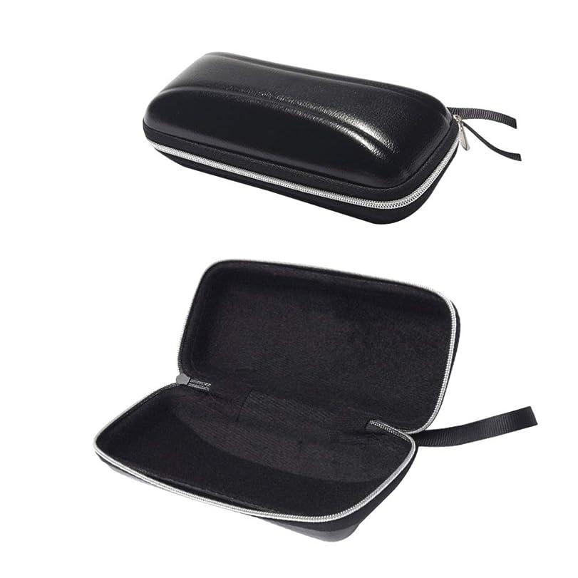 精神的にベックス不忠SUPVOX ハードシェルサングラスケース保護用ハードメガネケースpuジッパー付き旅行用2pcs