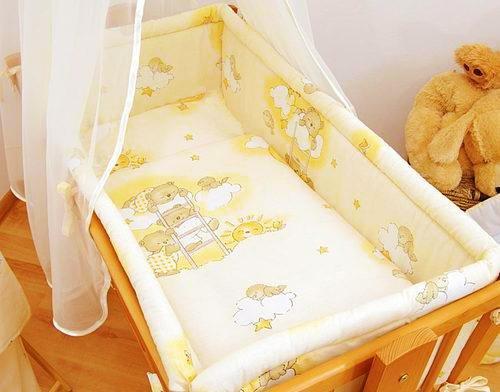 Lit bébé 6 pièces Parure de lit (90 x 40) + Terry Drap Housse pour berceau à bascule/balancelle -