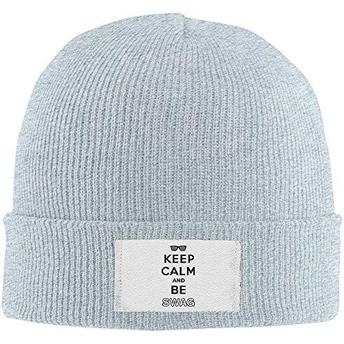 Moda Nuovo Caldo Unisex Mantenere La Calma Ed Essere Swag Unisex Caldo Cappello di Lana Invernale Berretto A Maglia Berretto Teschio