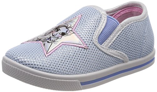 Frozen Girls Kids Low Sneakers, Baskets Slip-on Garçon, Blue Silver, 27 EU