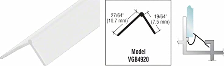 CRL White Snap-In Vinyl Glazing Bead 72 in long - 20 Pack
