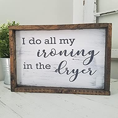 Laundry Room Framed Distressed Farmhouse Wood Sign