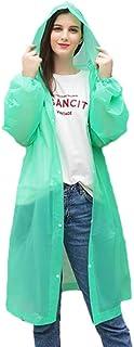Raylans Unisex Impermeable Impermeable Poncho Largo Lluvia Coat Adultos Chubasquero