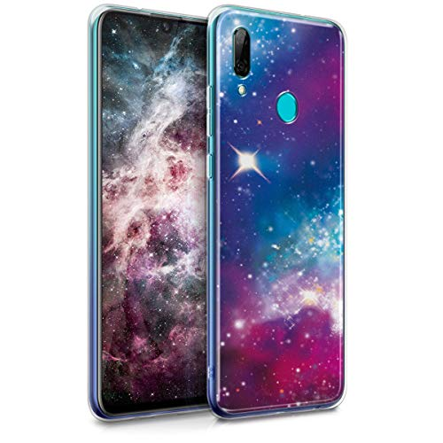 kwmobile Hülle kompatibel mit Huawei P Smart (2019) - Handy Hülle Handyhülle - Backcover Hardcover Cover Schutzhülle - Space Mehrfarbig Pink Schwarz
