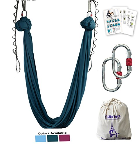 Why Should You Buy F.Life Aerial Yoga Hammock kit Include Daisy Chain,Carabiner and Pose Guide (Blac...
