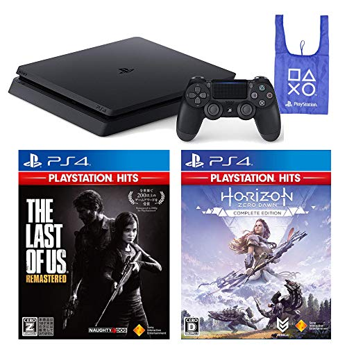 PlayStation 4 The Last of Us Remastered Horizon Zero Dawn Complete Edition オリジナルデザインエコバッグ セット (ジェット・ブラック) (CUH-2200AB01) 【CEROレーティング「Z」】