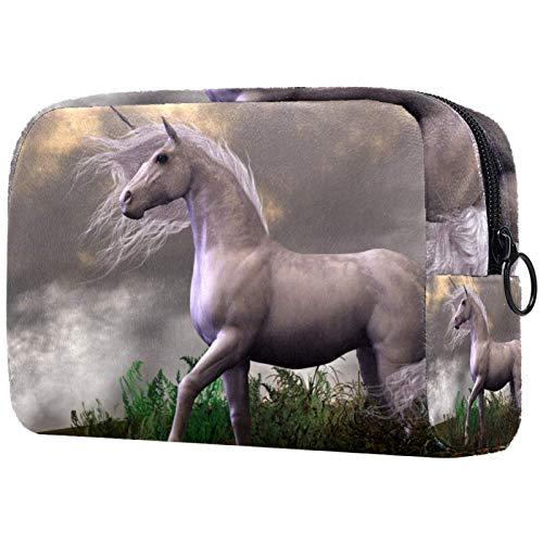 Neceser de viaje, bolsa de viaje impermeable, bolsa de aseo para mujeres y niñas, diseño de unicornio