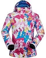 Women's Ski Jacket Outdoor Waterproof Windproof Coat Snowboard Mountain Rain Jacket SJW008 Snowman Pink XS